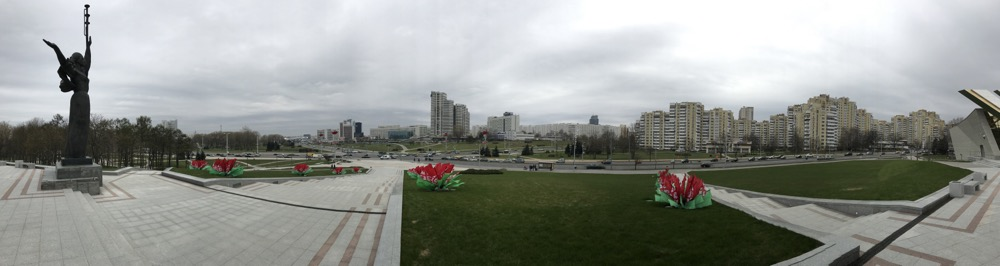 panorama minska bialoruskiego
